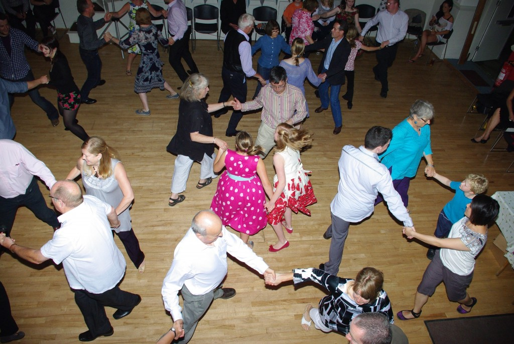 Dancing in a ceilidh
